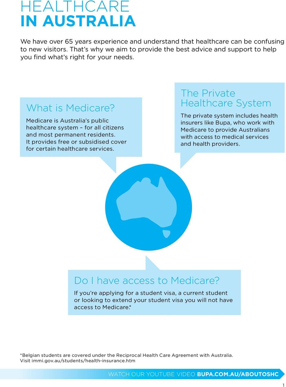 Medicare is Australia s public healthcare system for all citizens and most permanent residents. It provides free or subsidised cover for certain healthcare services.