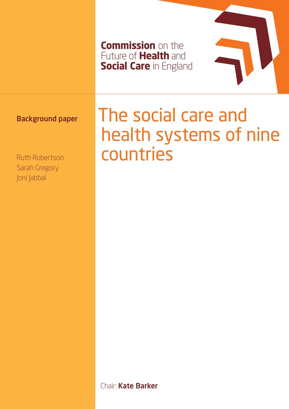 Gregory Joni Jabbal The social care and health