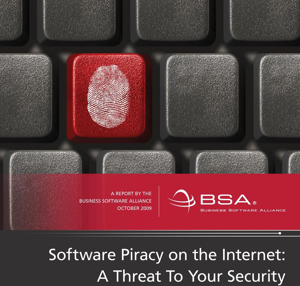 2009 Software Piracy on the