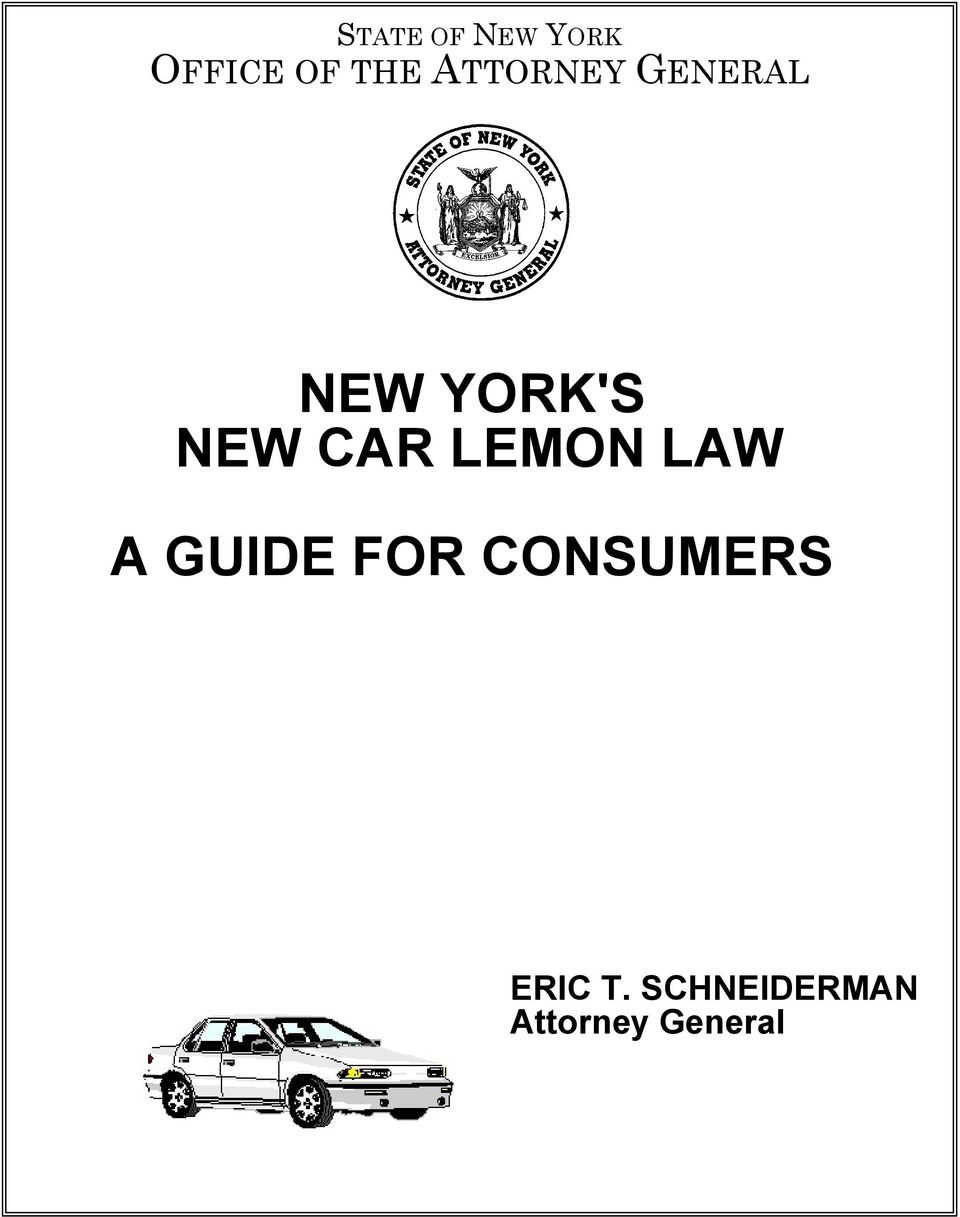 CAR LEMON LAW A GUIDE FOR