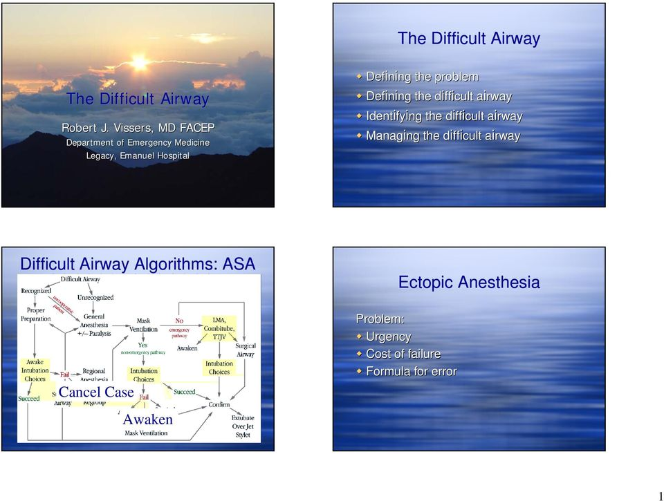 the difficult d airway a Identifying ng the difficult d airway a Managing ng the difficult d airway a Difficult