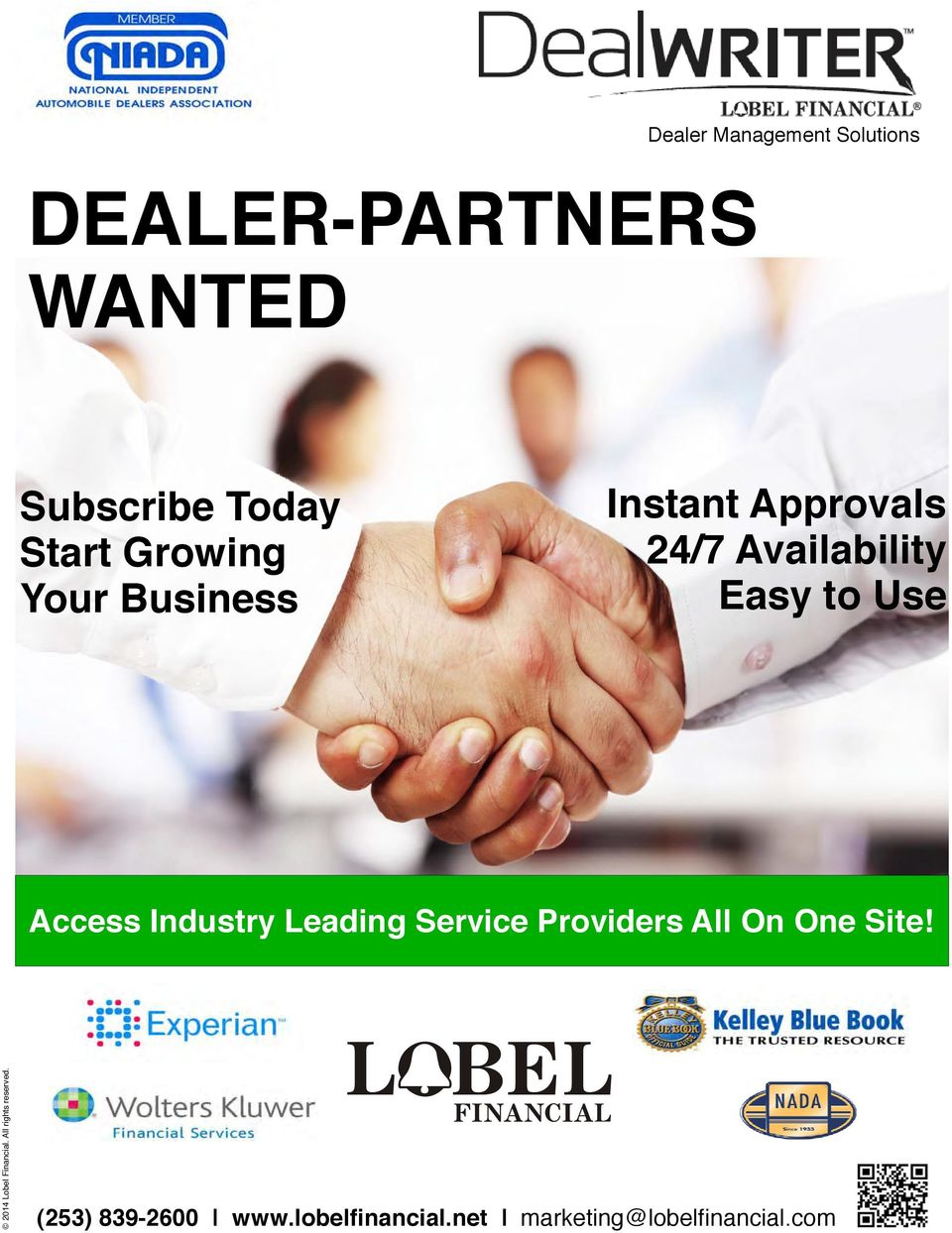 Industry Leading Service Providers ll On One Site! 2014 Lobel Financial.