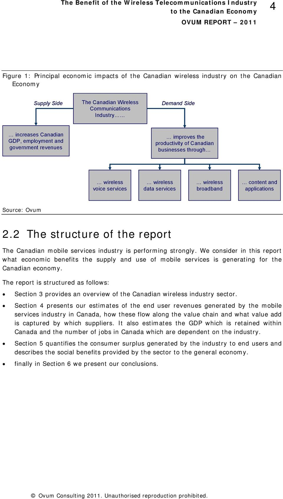 2 The structure of the report The Canadian mobile services industry is performing strongly.