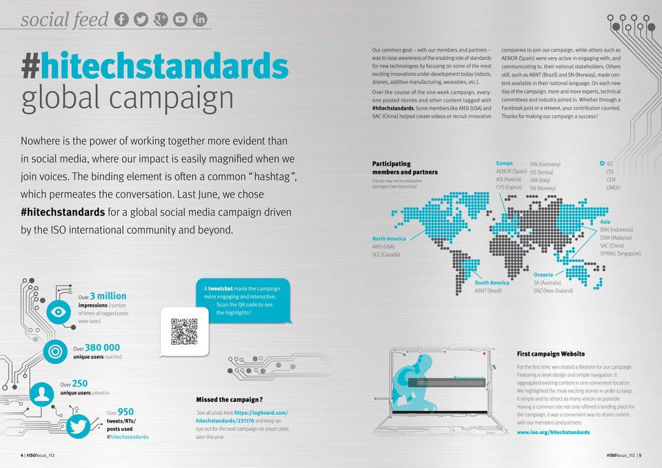 Over the course of the one-week campaign, everyone posted stories and other content tagged with #hitechstandards.