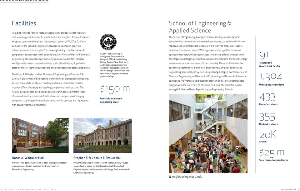 professors, 40 additional full-time Campus for the School of Engineering & Applied Science.