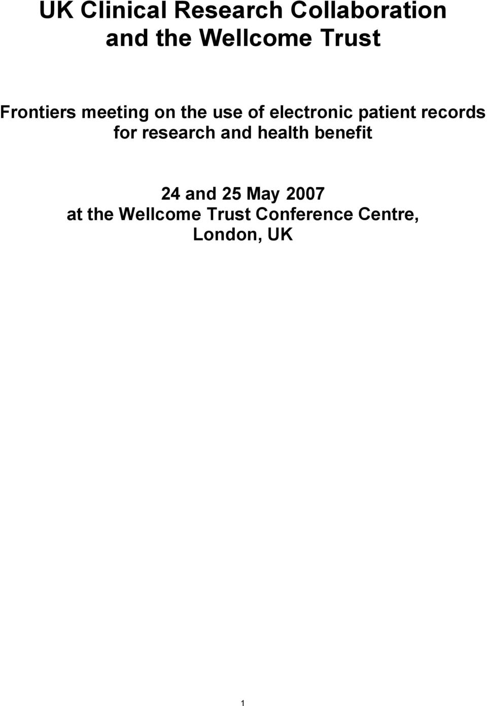 patient records for research and health benefit 24 and