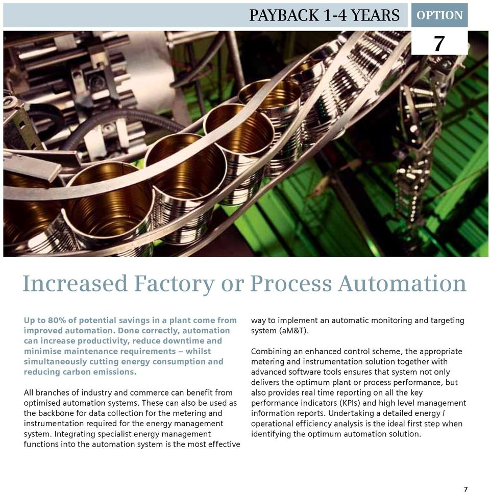 All branches of industry and commerce can benefit from optimised automation systems.