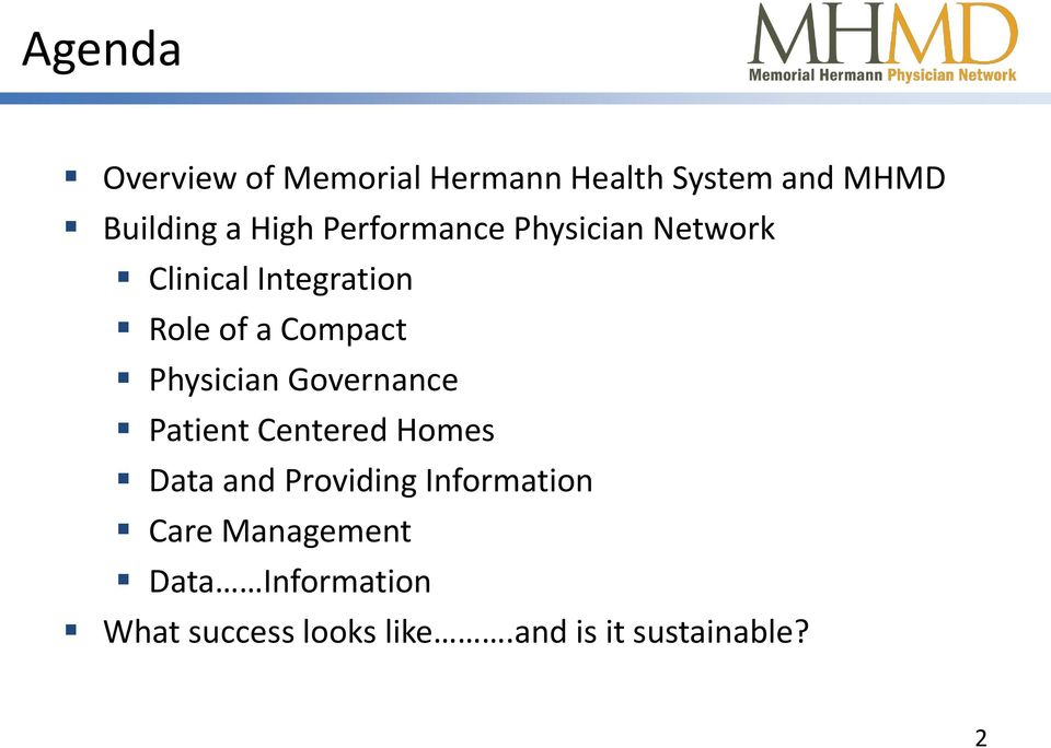 Physician Governance Patient Centered Homes Data and Providing Information
