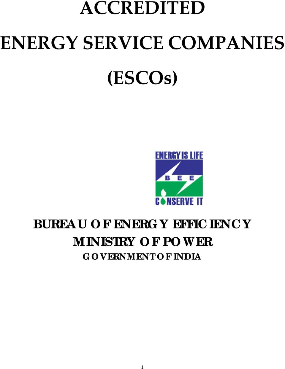 ENERGY EFFICIENCY MINISTRY