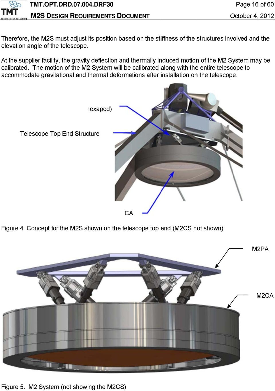 The motion of the M2 System will be calibrated along with the entire telescope to accommodate gravitational and thermal deformations after installation on the