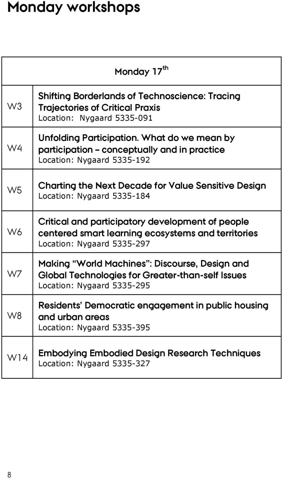 participatory development of people centered smart learning ecosystems and territories Location: Nygaard 5335-297 Making World Machines : Discourse, Design and Global Technologies for