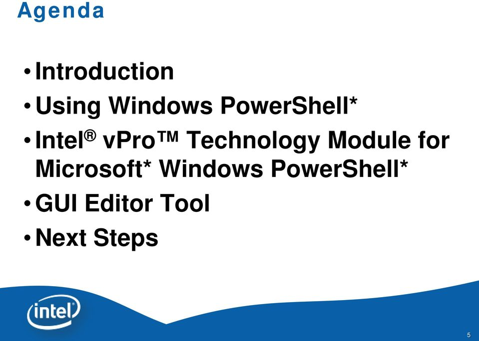 Module for Microsoft* Windows