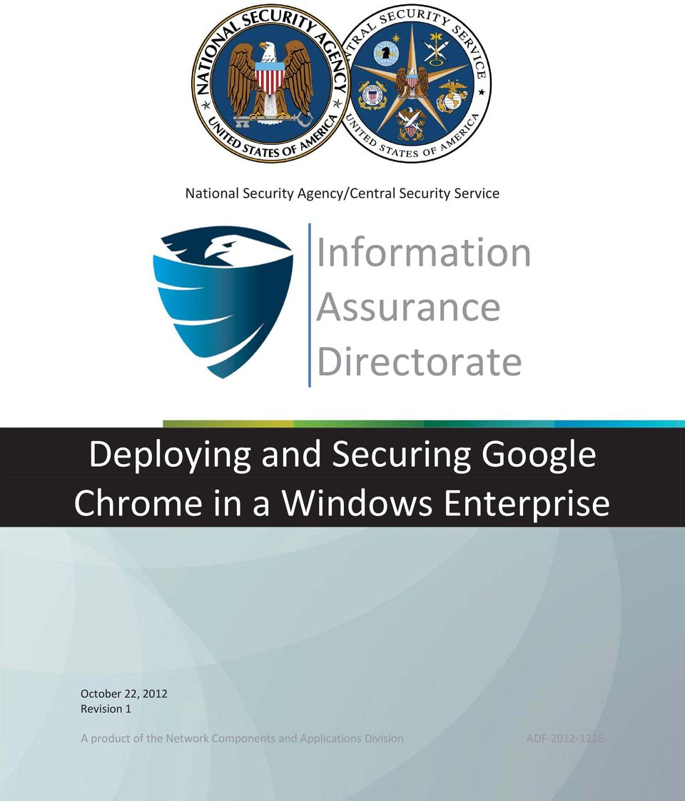 a Windows Enterprise October 22, 2012 Revision 1 A product of