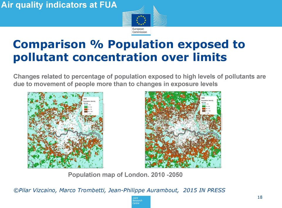 pollutants are due to movement of people more than to changes in exposure levels