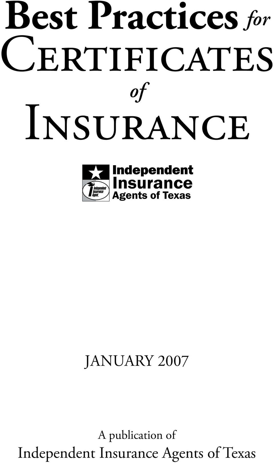 January 2007 A publication