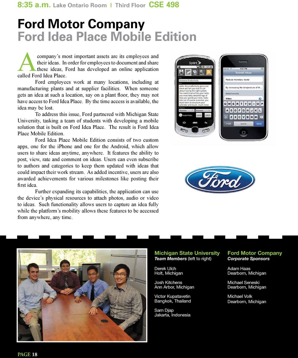 Ford employees work at many locations, including at manufacturing plants and at supplier facilities.