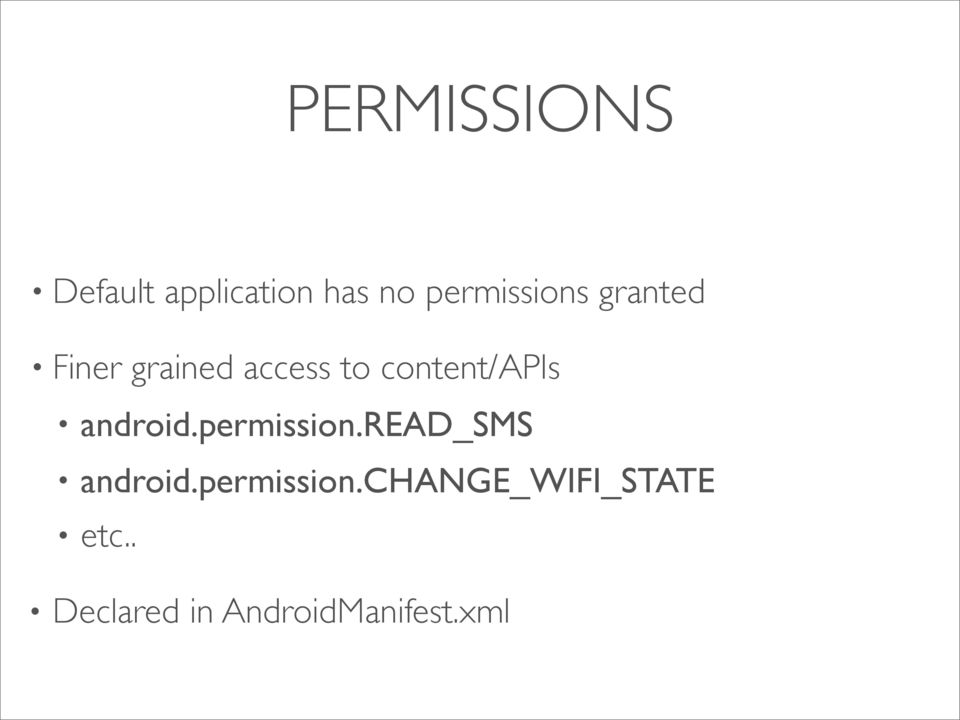 content/apis android.permission.read_sms android.