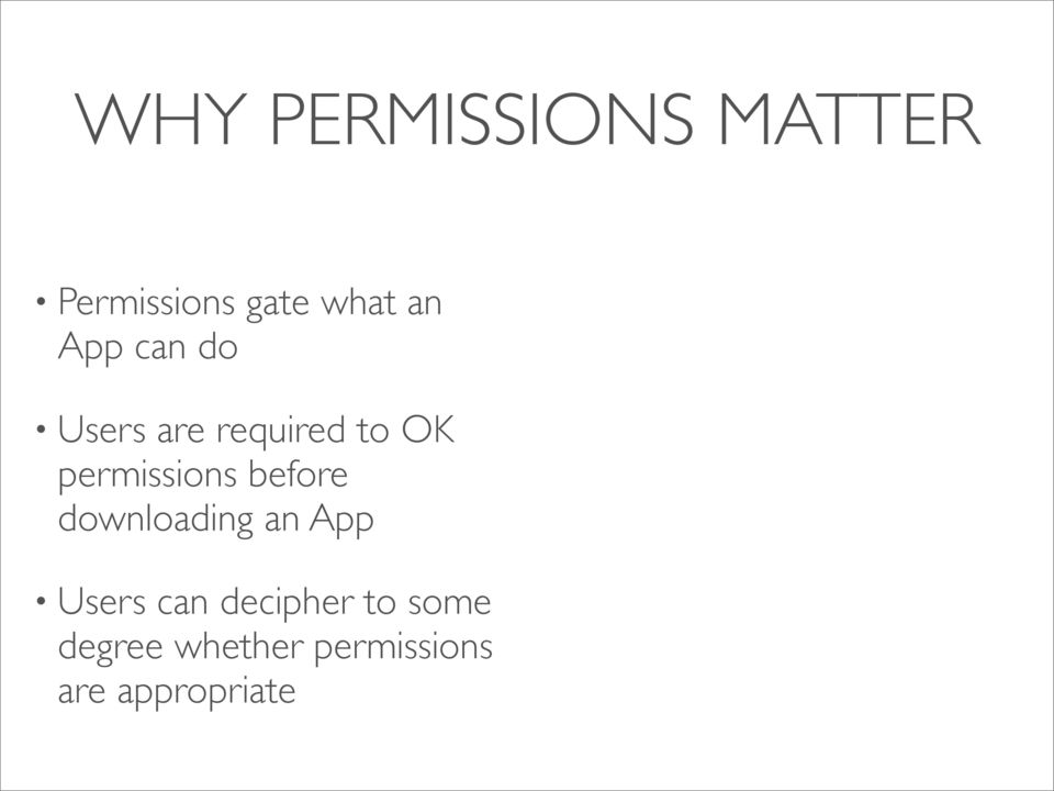 before downloading an App Users can decipher to