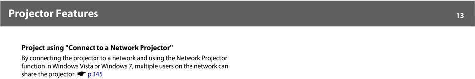 using the Network Projector function in Windows Vista or