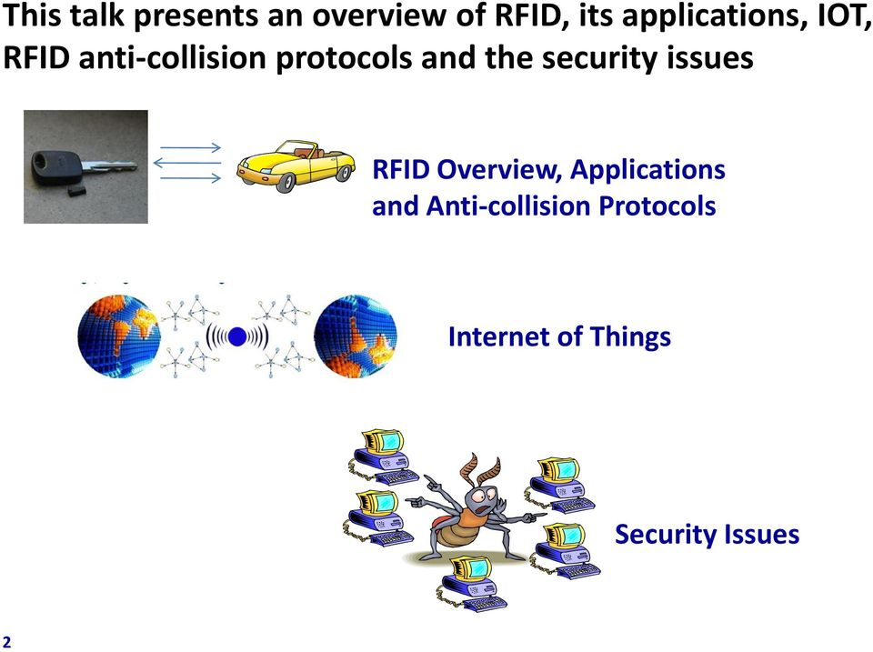 the security issues RFID Overview, Applications and