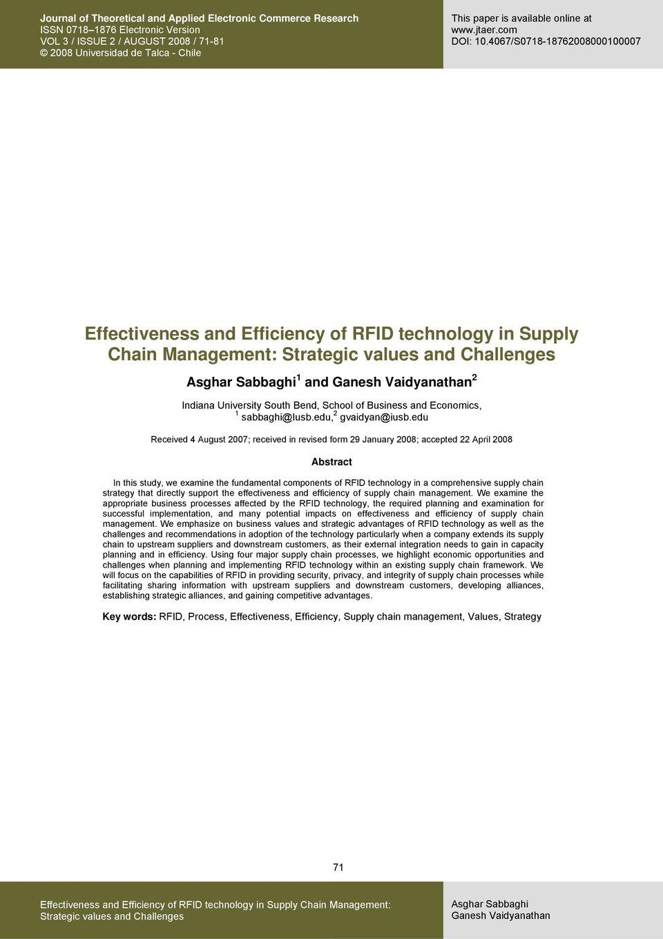 chain strategy that directly support the effectiveness and efficiency of supply chain management.