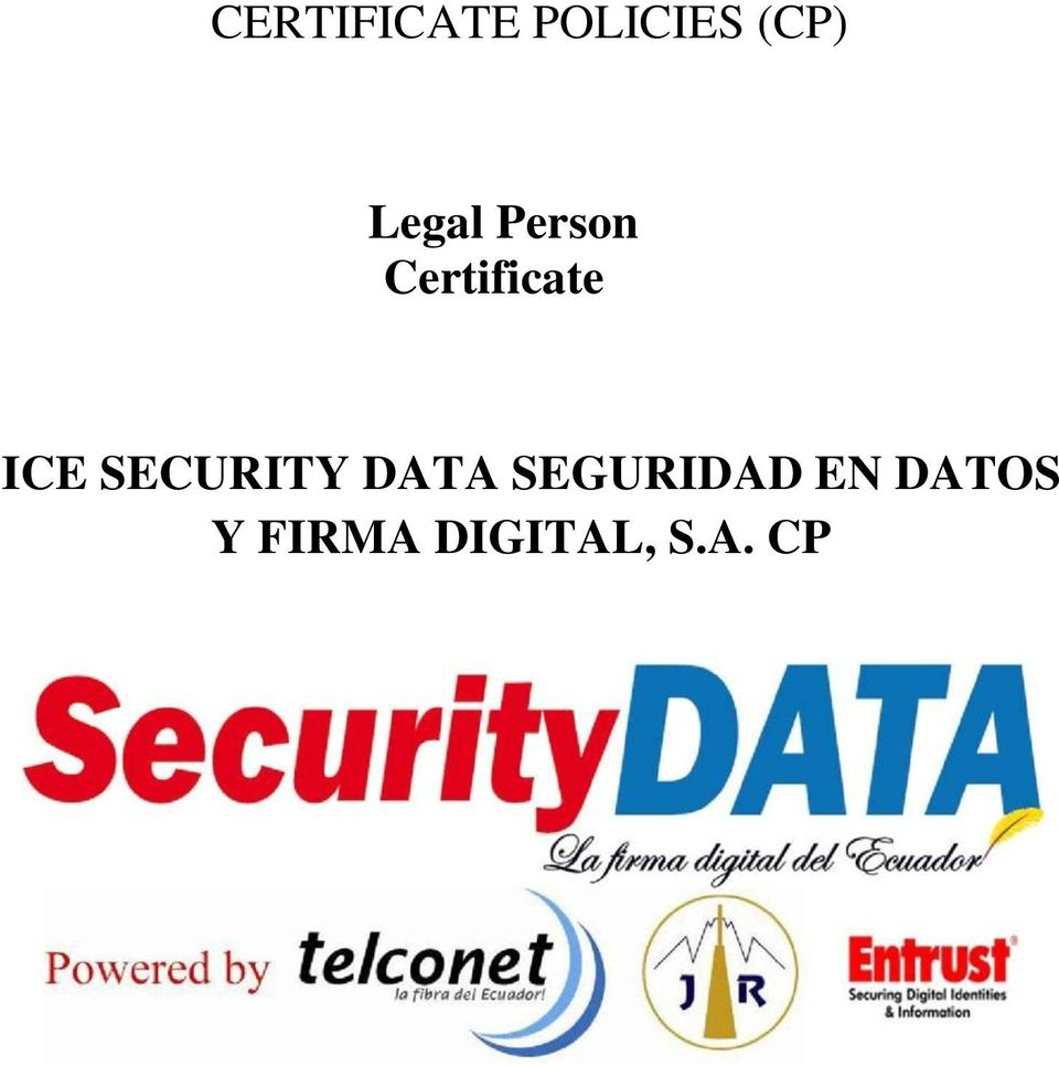 SECURITY DATA SEGURIDAD