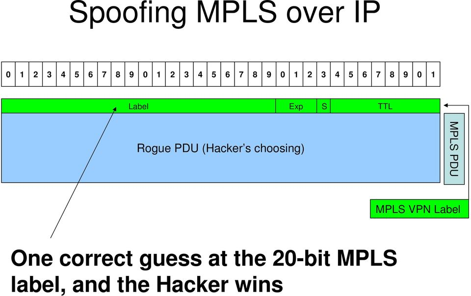 (Hacker s choosing) MPLS PDU MPLS VPN Label One