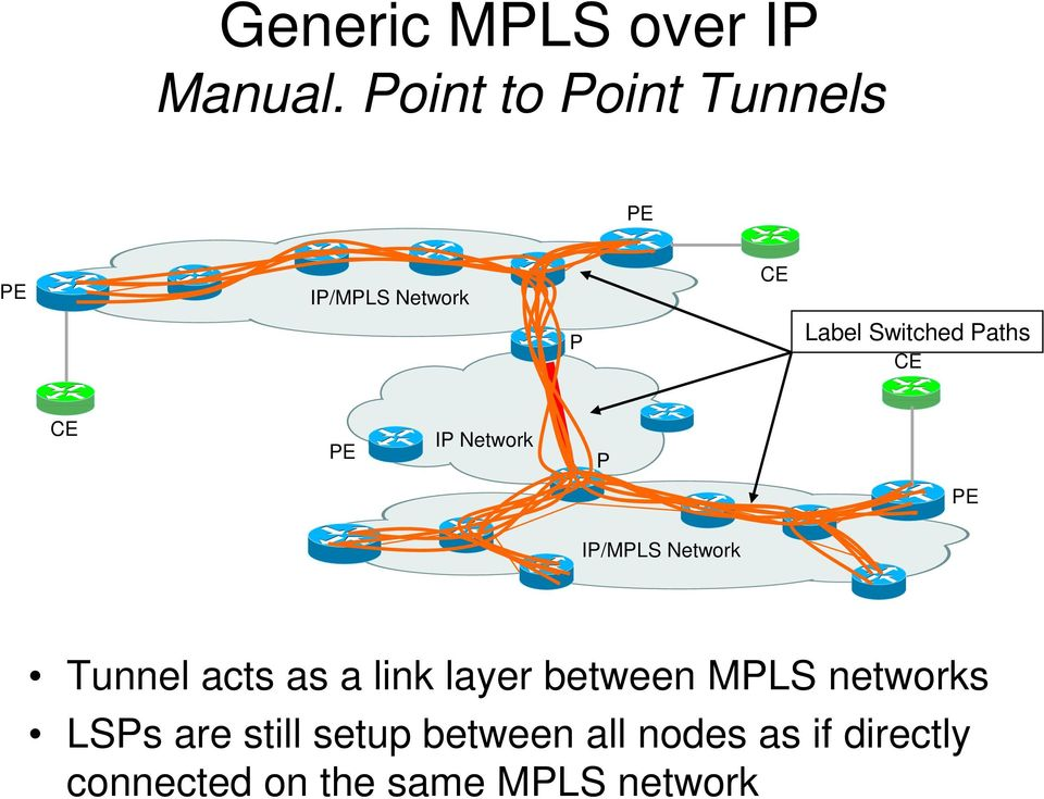 Network P IP/MPLS Network Tunnel acts as a link layer between