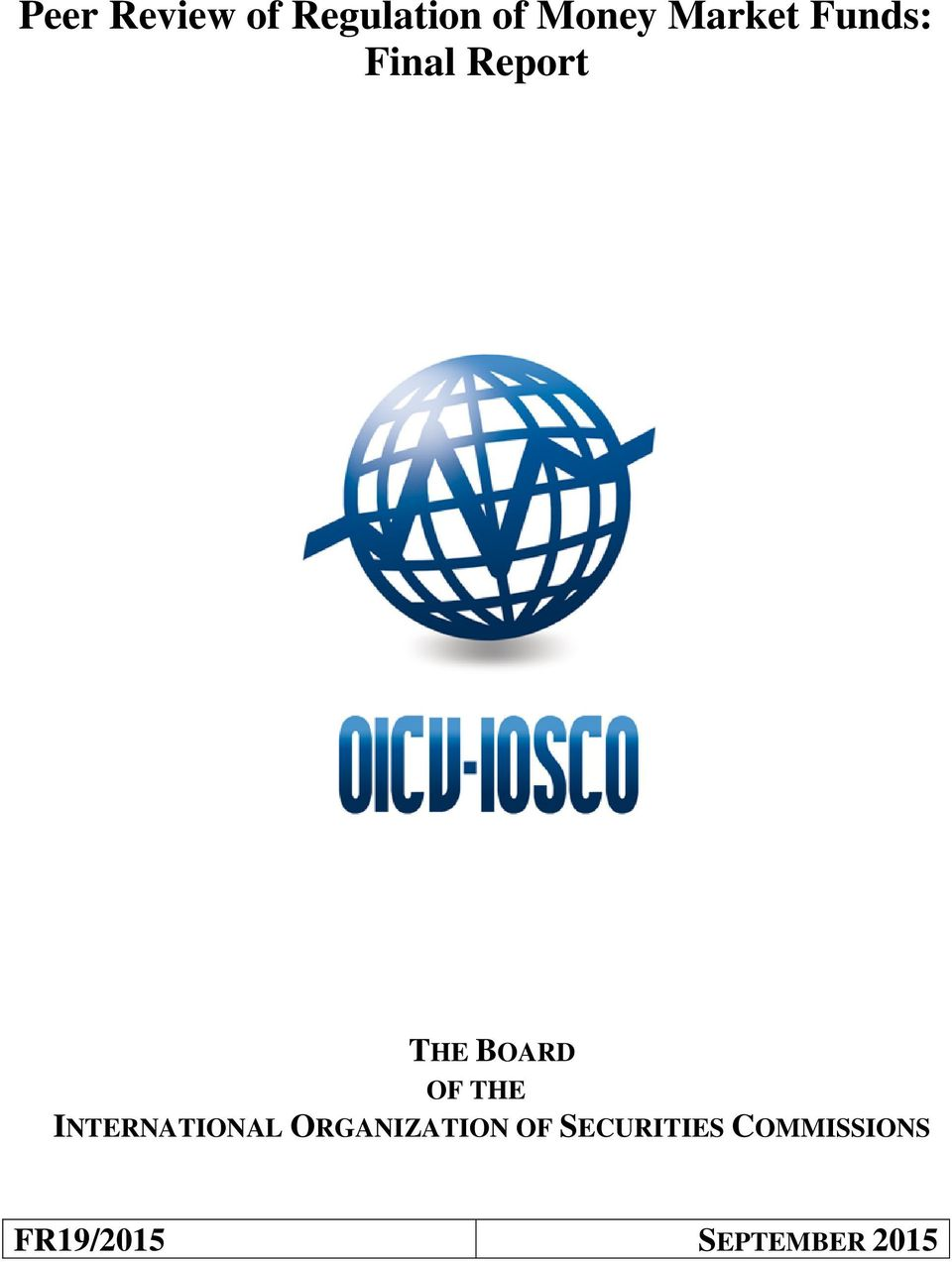 OF THE INTERNATIONAL ORGANIZATION OF