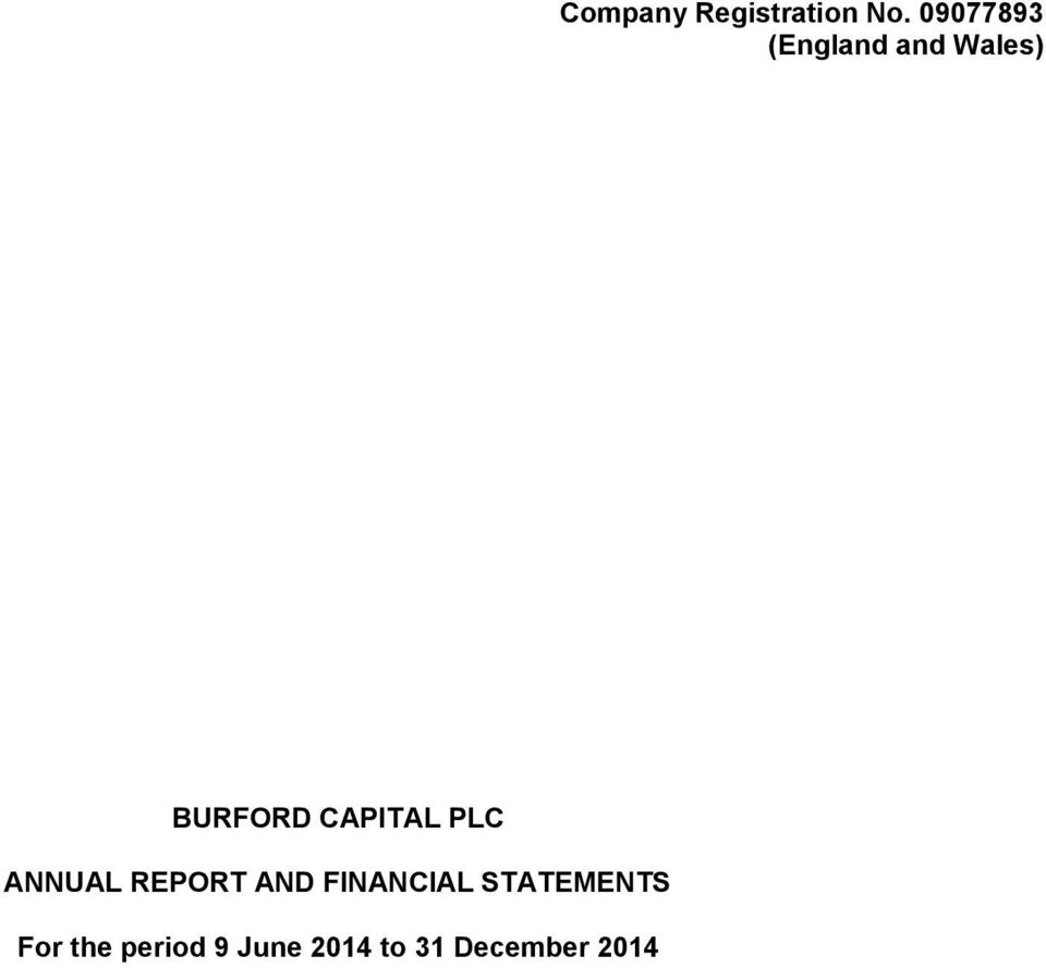 CAPITAL PLC ANNUAL REPORT AND FINANCIAL