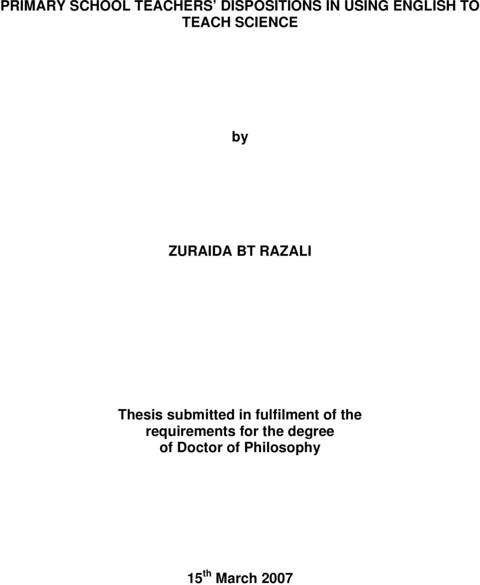 Thesis submitted in fulfilment of the
