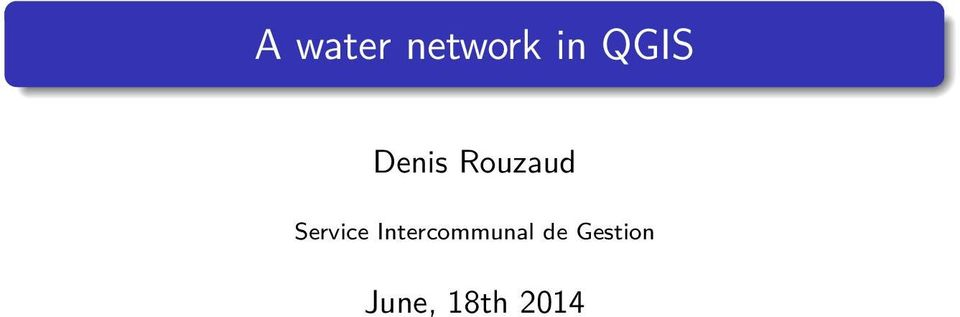 A water network in QGIS - PDF