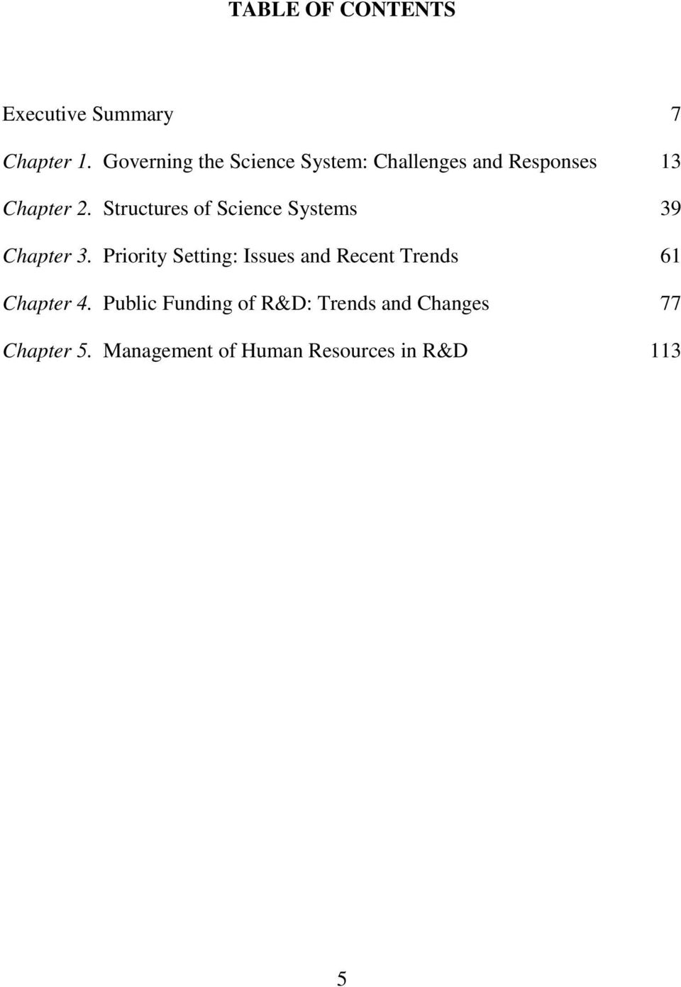 Structures of Science Systems 39 Chapter 3.