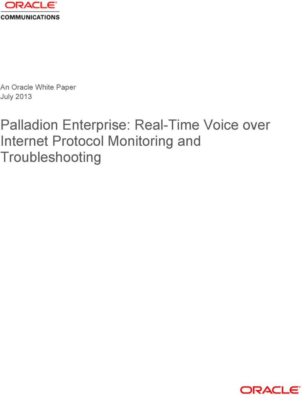 Real-Time Voice over Internet