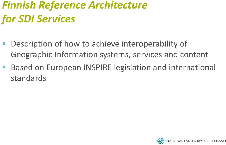 Geographic Information systems, services and content