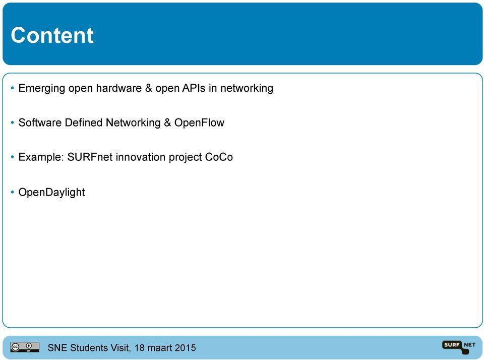 Networking & OpenFlow Example: