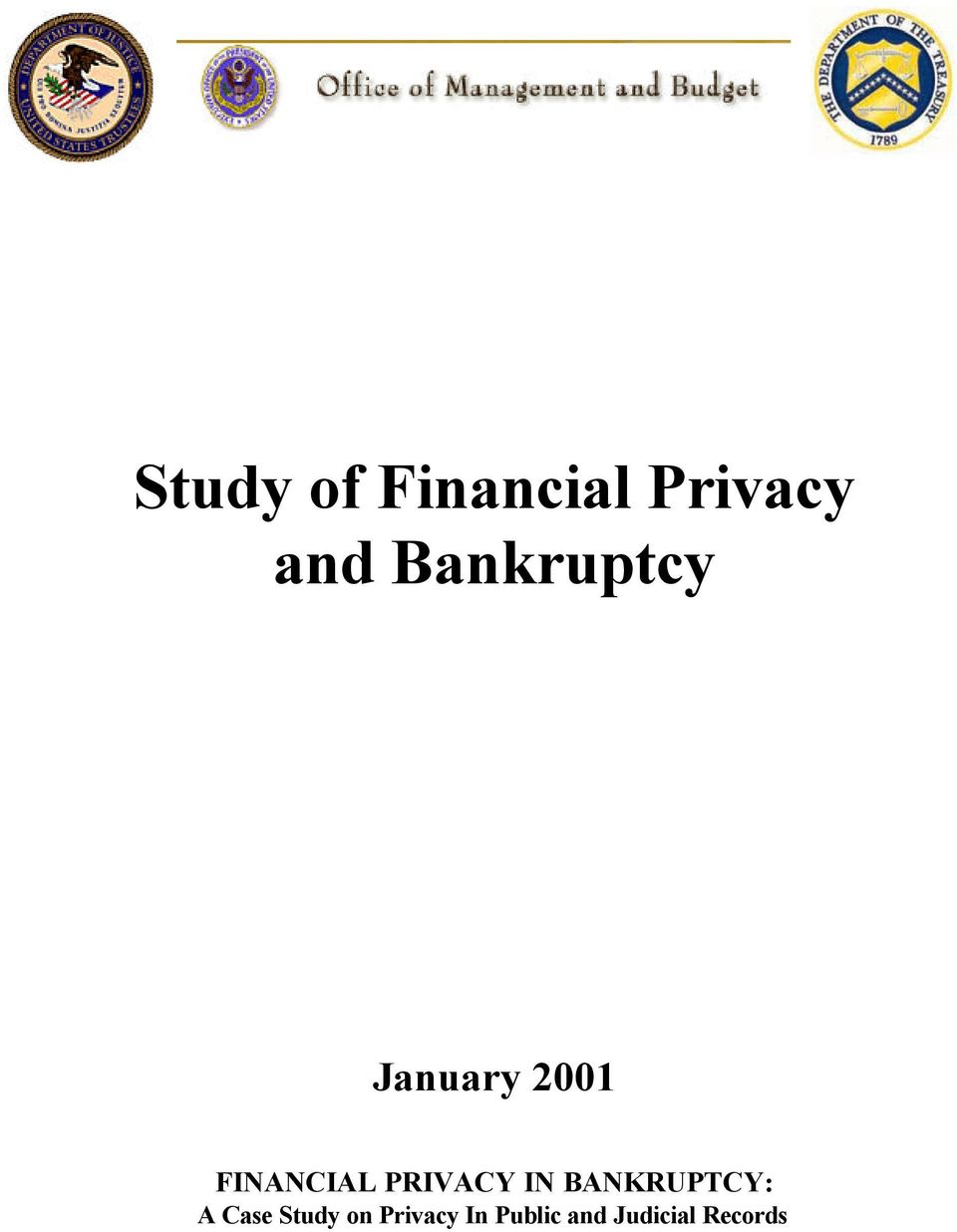 PRIVACY IN BANKRUPTCY: A Case Study