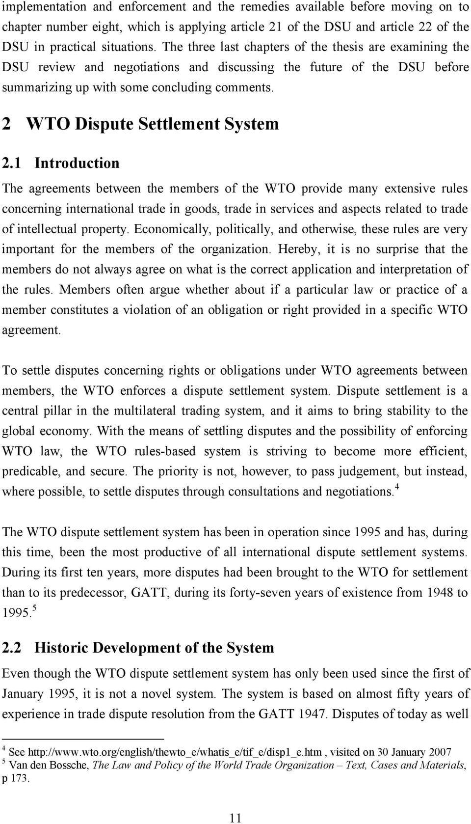 2 WTO Dispute Settlement System 2.