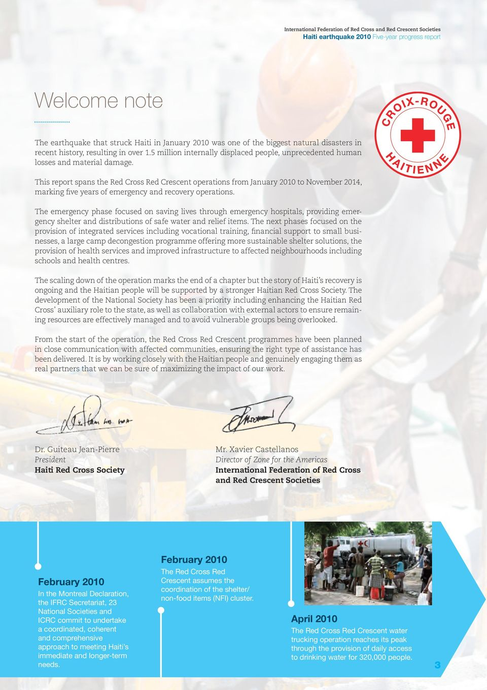 This report spans the Red Cross Red Crescent operations from January 2010 to November 2014, marking five years of emergency and recovery operations.