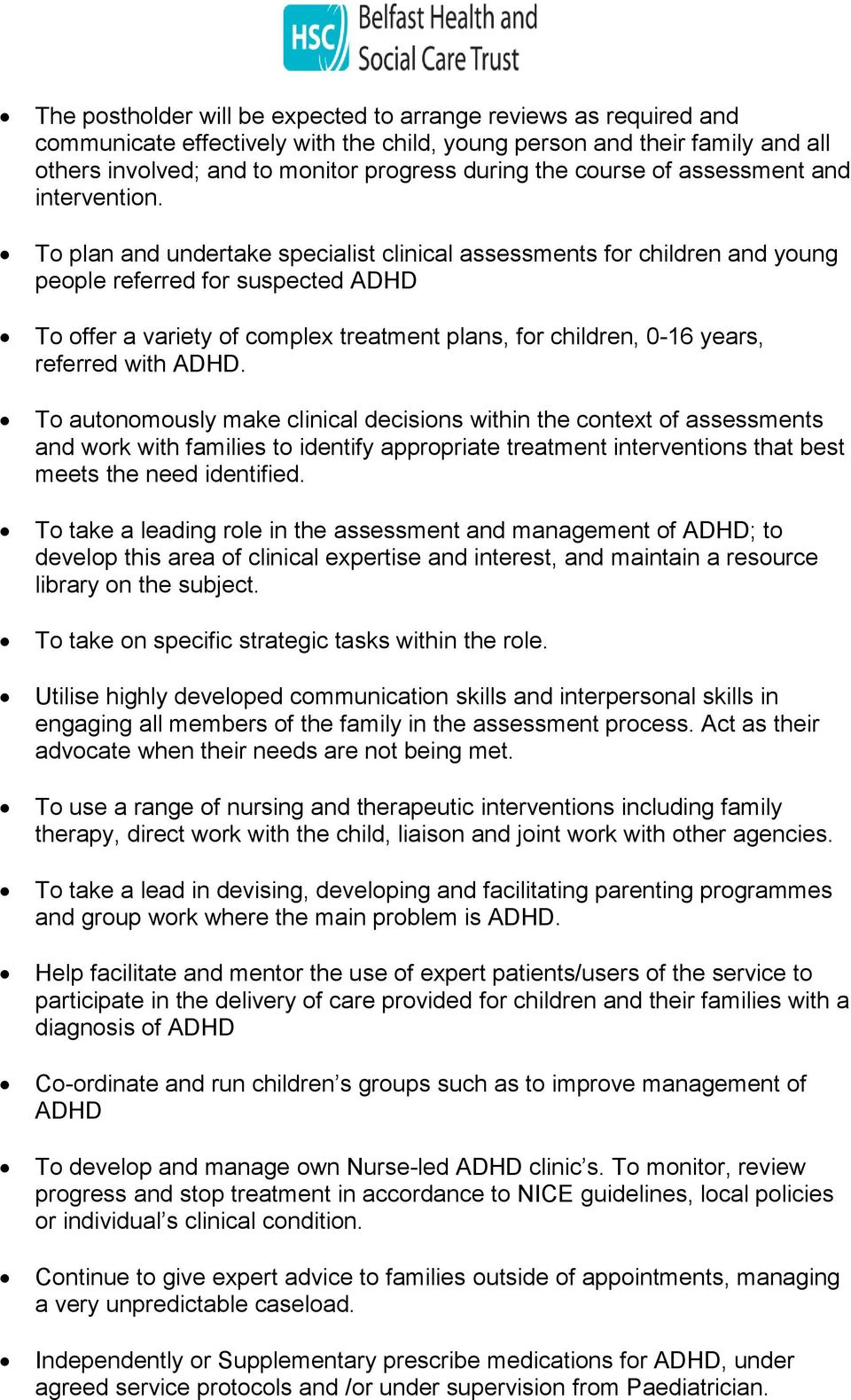 intervention for adhd