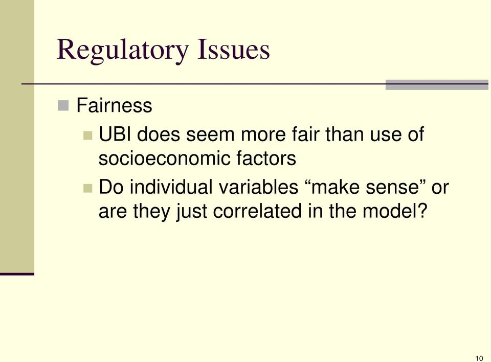 factors Do individual variables make