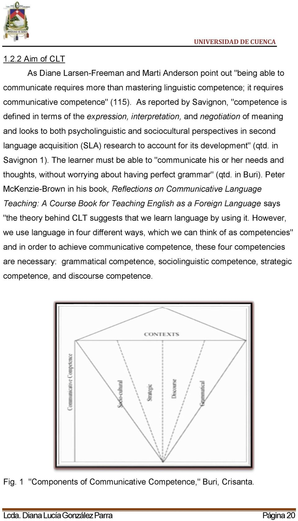 "language acquisition (SLA) research to account for its development"" (qtd. in Savignon 1)."