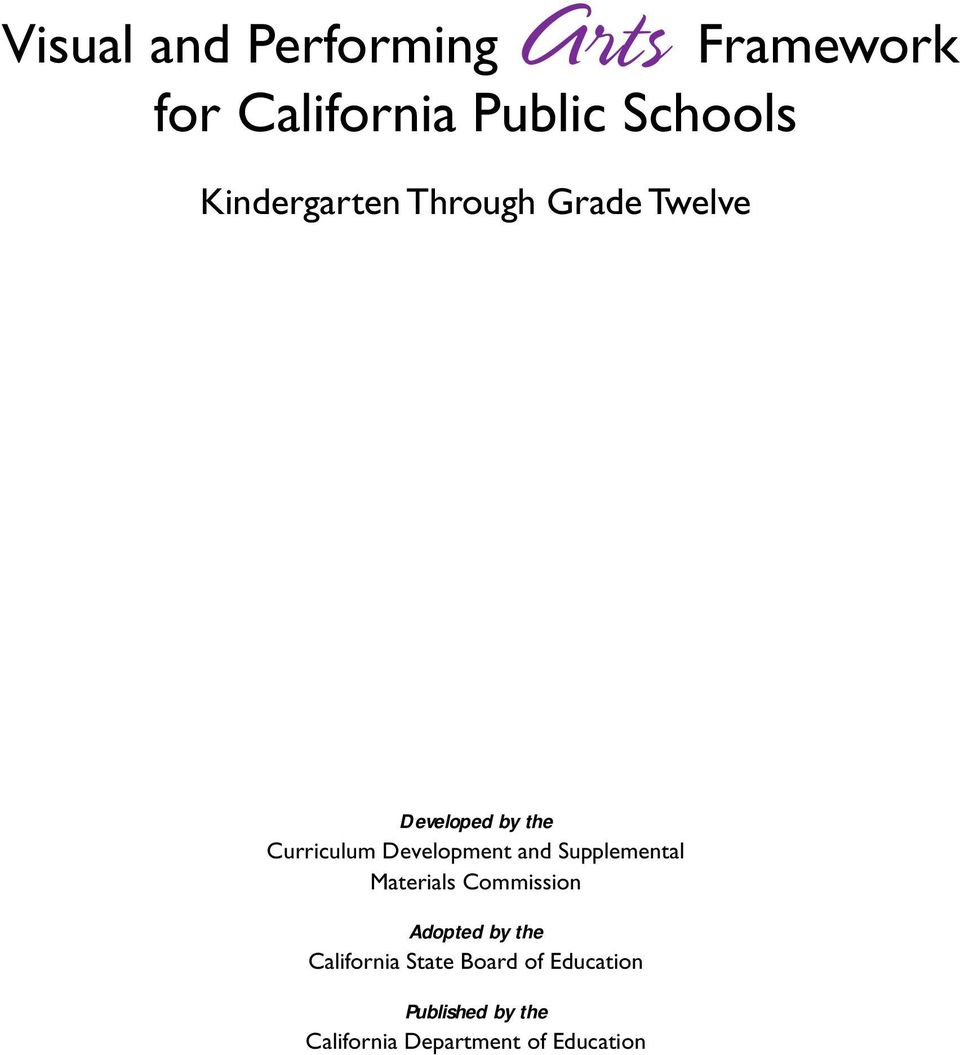 Curriculum Development and Supplemental Materials Commission