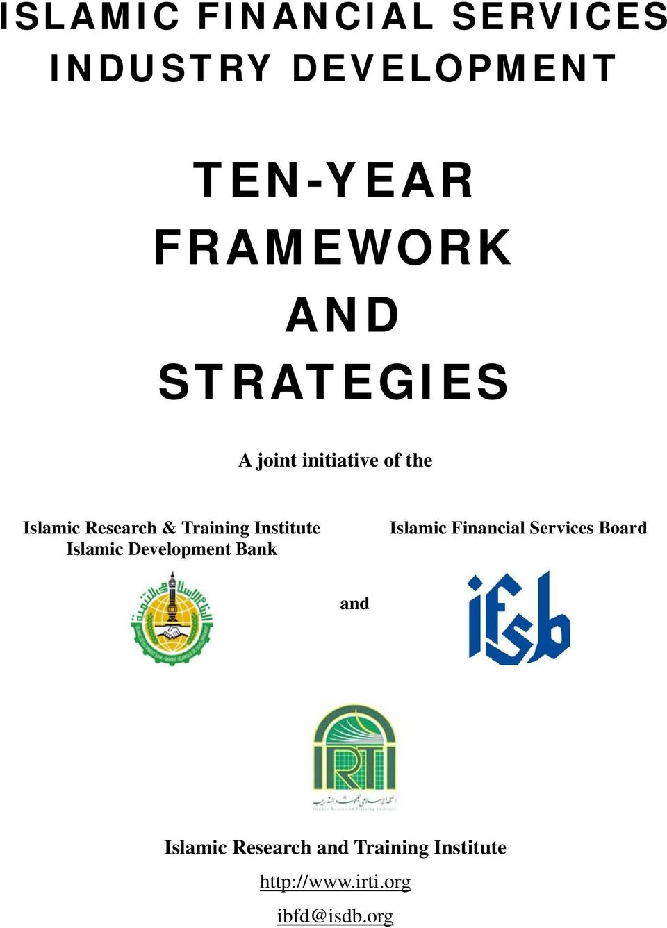 Institute Islamic Development Bank Islamic Financial Services Board