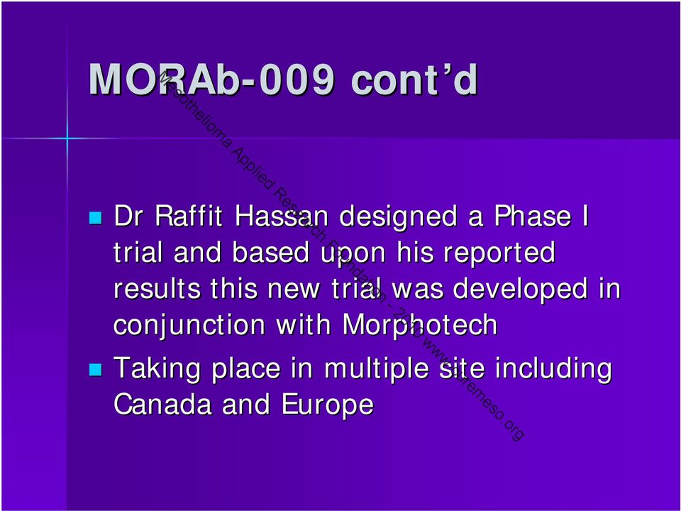 trial was developed in conjunction with Morphotech