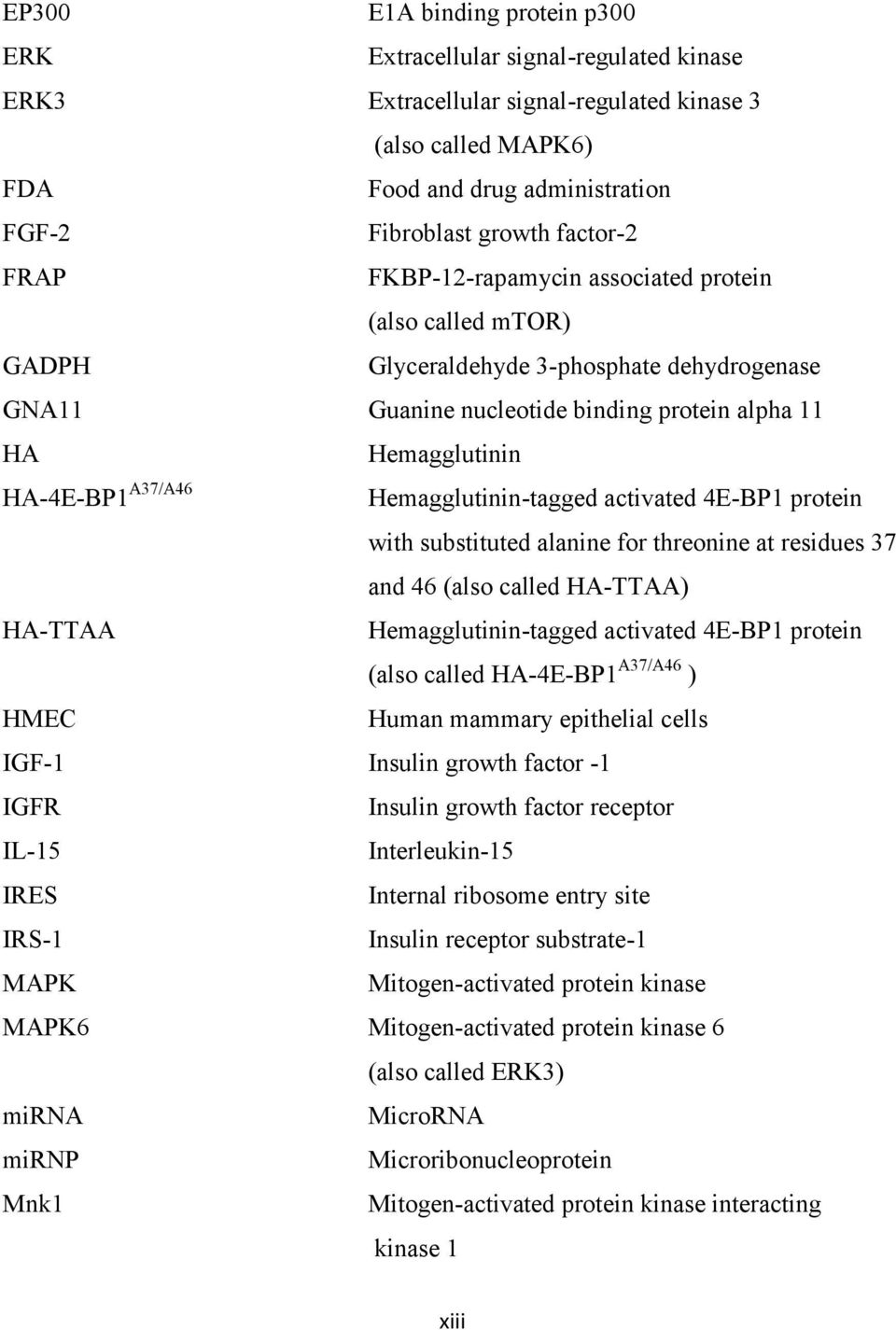HA-4E-BP1A37/A46 Hemagglutinin-tagged activated 4E-BP1 protein with substituted alanine for threonine at residues 37 and 46 (also called HA-TTAA) HA-TTAA Hemagglutinin-tagged activated 4E-BP1 protein