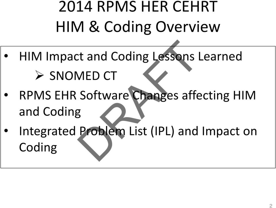 EHR Software Changes affecting HIM and Coding