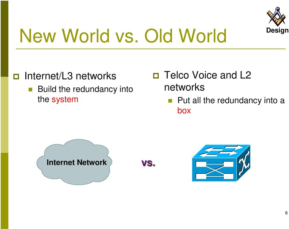 redundancy into the system Telco Voice