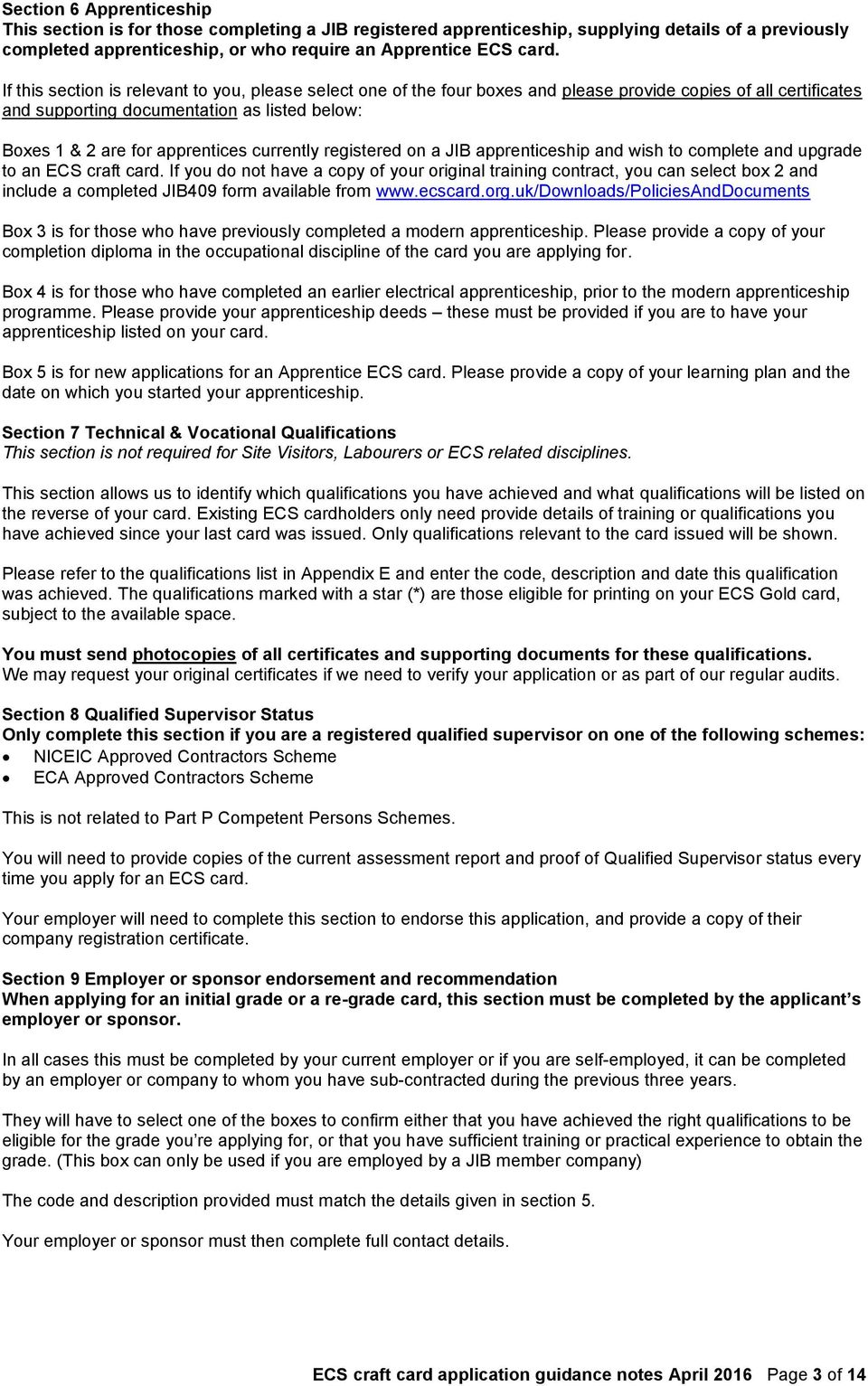 Ecs craft card application guidance notes and appendices pdf currently registered on a jib apprenticeship and wish to complete and upgrade to an ecs craft fandeluxe Image collections