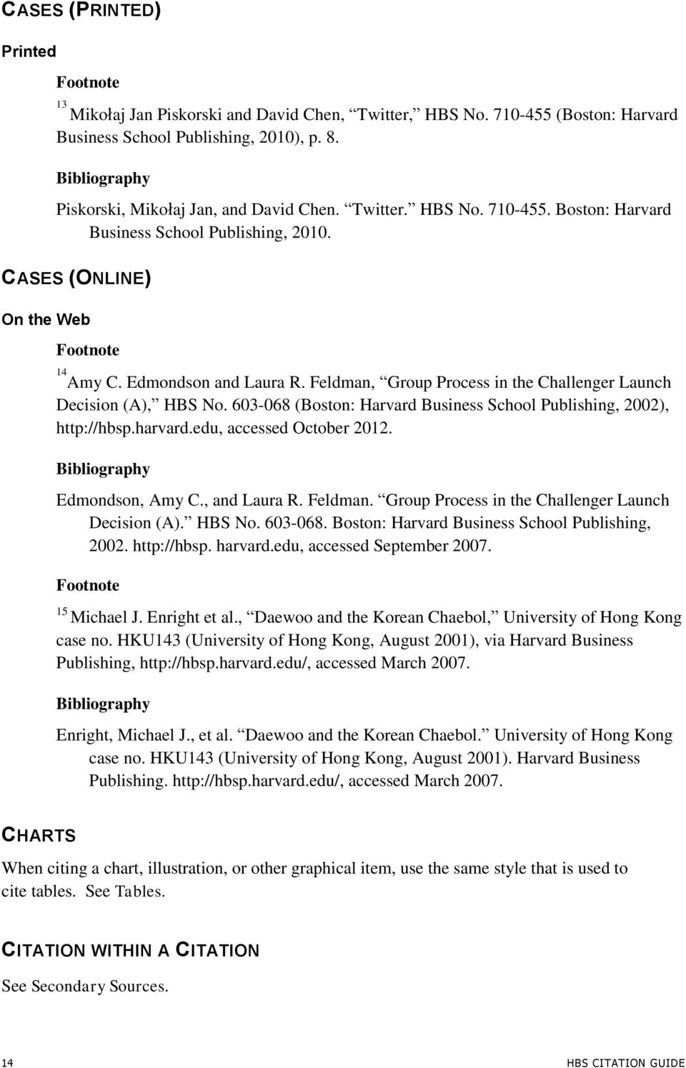 603-068 (Boston: Harvard Business School Publishing, 2002), http://hbsp.harvard.edu, accessed October 2012. Edmondson, Amy C., and Laura R. Feldman.